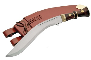 # RC911109BRTS Deluxe Gurkha Kukri Knife with Brown Sheath